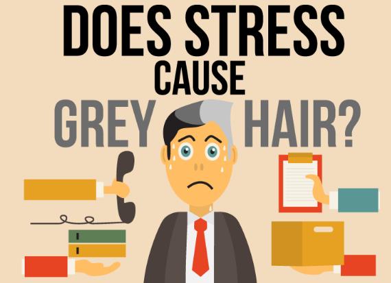 stress and gray hair